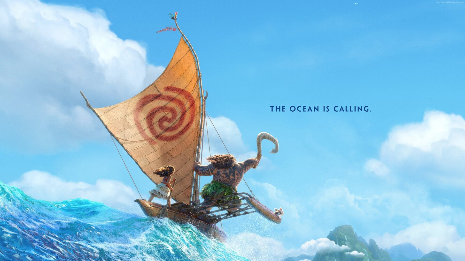 Moana and maui sailing disney movie  184   1